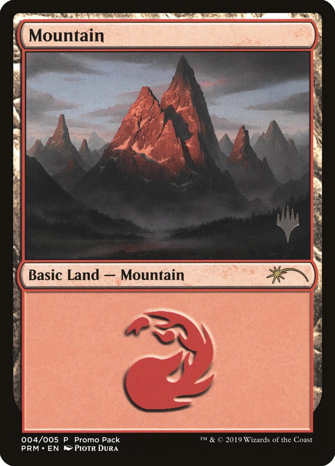 Mountain card from Promo Pack: Core Set 2020