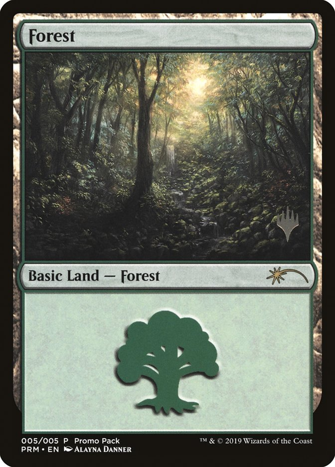 Forest card from Promo Pack: Core Set 2020