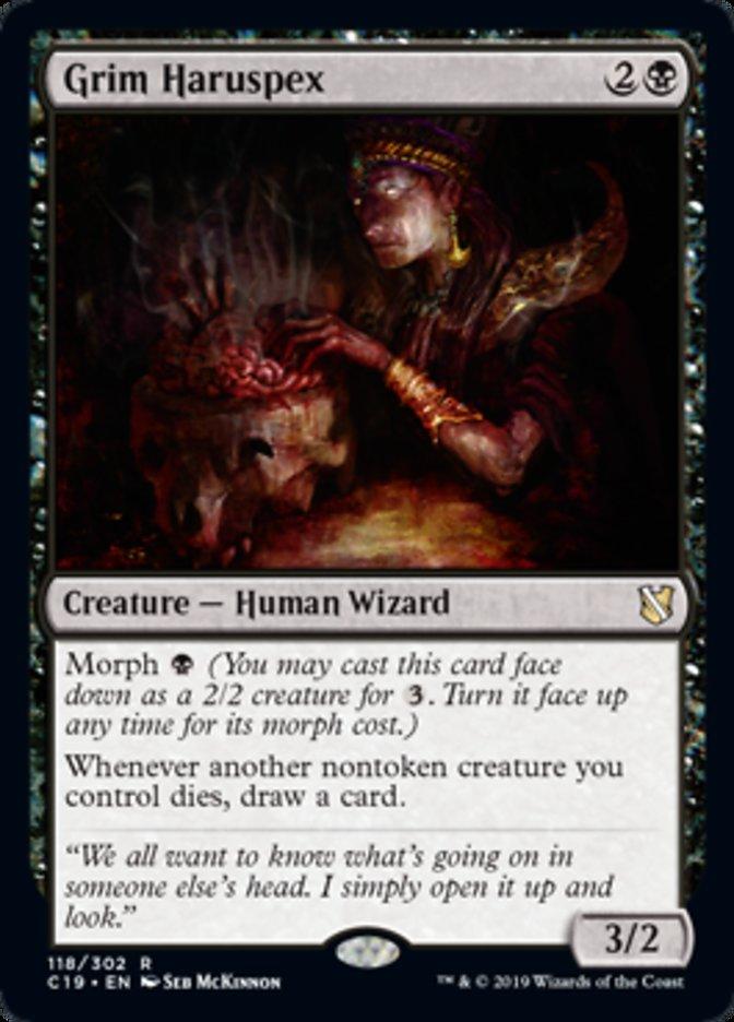 Grim Haruspex card from Commander 2019