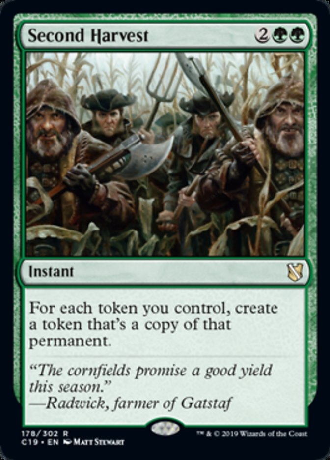 Second Harvest card from Commander 2019