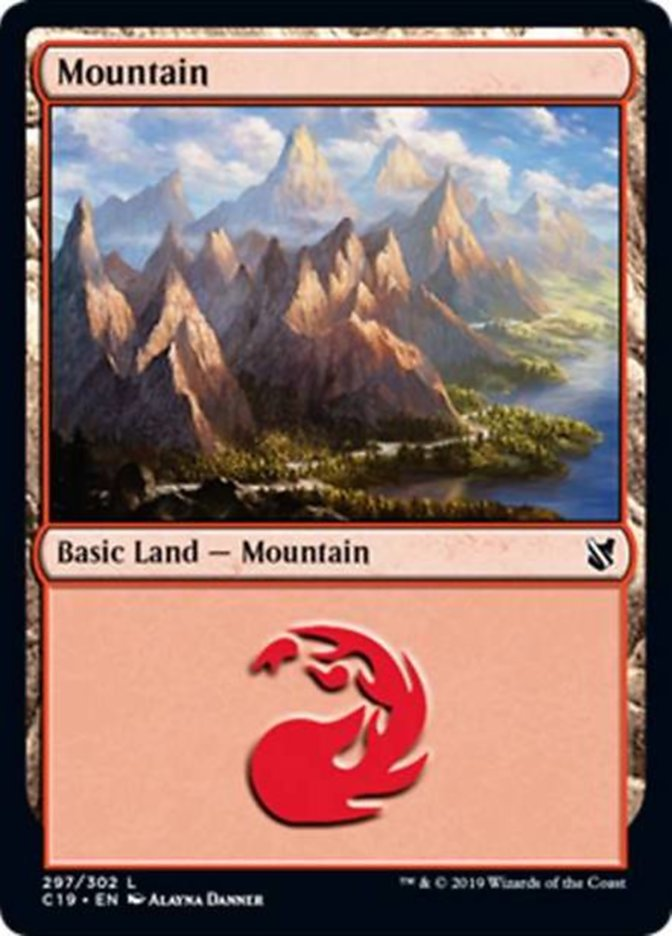 Mountain (297) card from Commander 2019