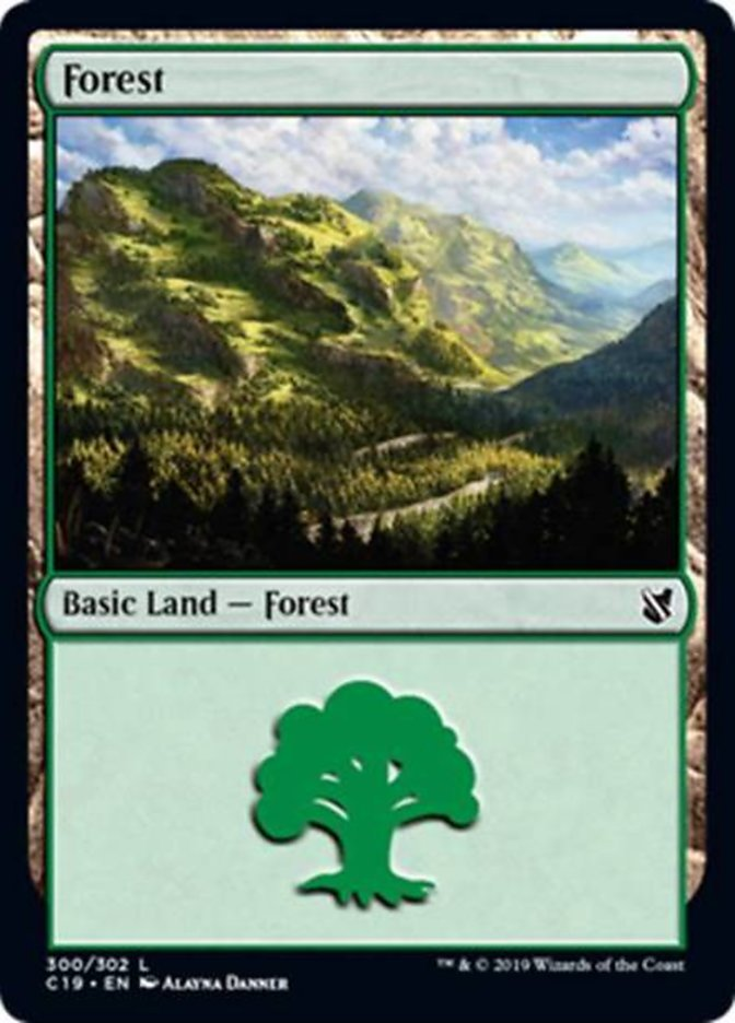 Forest (300) card from Commander 2019