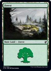 Forest (301) card from Commander 2019