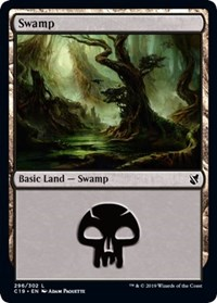 Swamp (296) card from Commander 2019