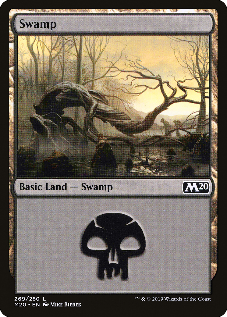 Swamp card from Core Set 2020