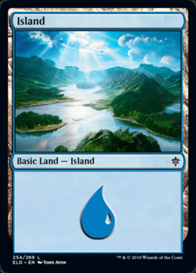 Island (254) card from Throne of Eldraine