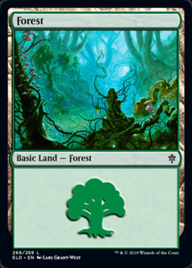 Forest (266) card from Throne of Eldraine