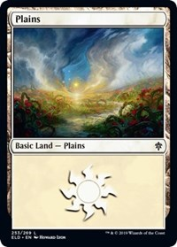 Plains (253) card from Throne of Eldraine