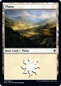 Plains (252) card from Throne of Eldraine
