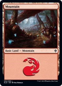 Mountain (264) card from Throne of Eldraine