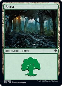 Forest (267) card from Throne of Eldraine