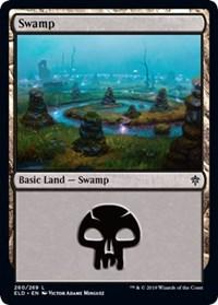 Swamp (260) card from Throne of Eldraine