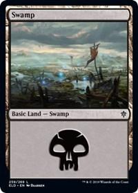 Swamp (259) card from Throne of Eldraine