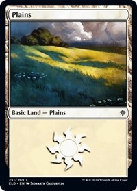 Plains (251) card from Throne of Eldraine