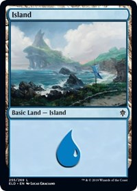 Island (255) card from Throne of Eldraine