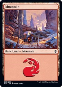 Mountain (263) card from Throne of Eldraine