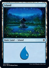 Island (257) card from Throne of Eldraine