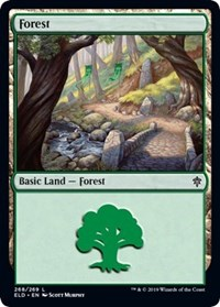 Forest (268) card from Throne of Eldraine