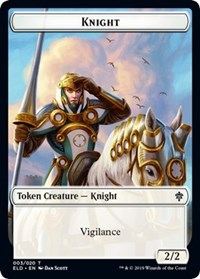 Knight // Food (15) Double-sided Token