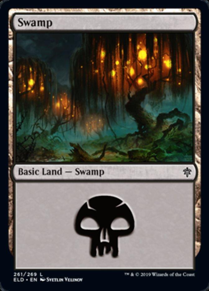Swamp (261) card from Throne of Eldraine