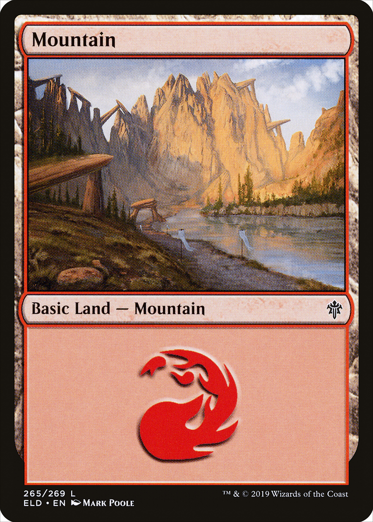 Mountain (265) card from Throne of Eldraine