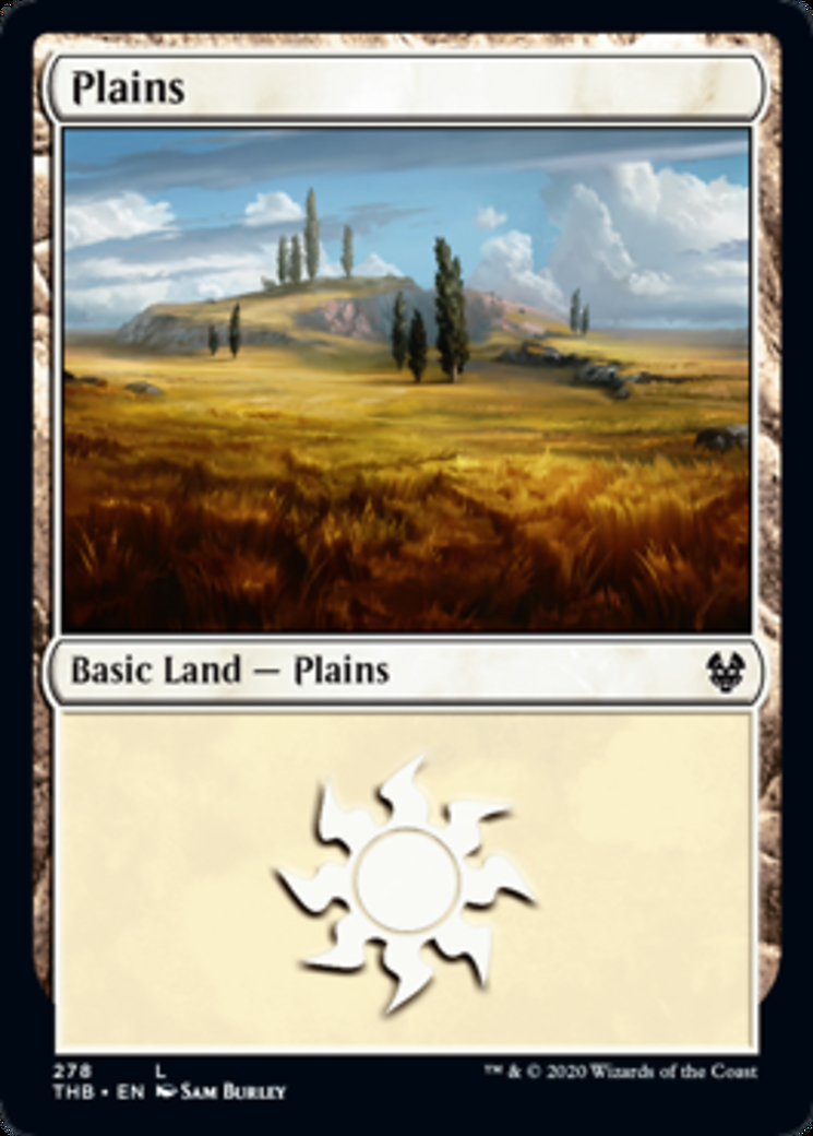 Plains (278) card from Theros Beyond Death
