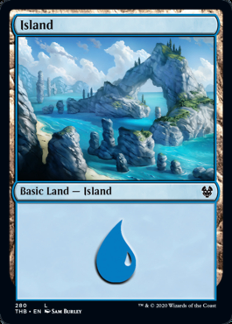 Island (280) card from Theros Beyond Death