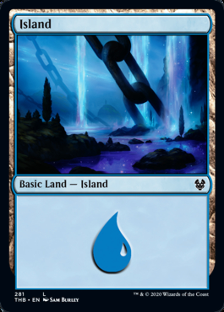 Island (281) card from Theros Beyond Death