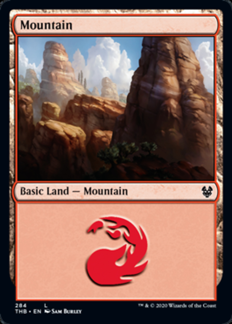 Mountain (284) card from Theros Beyond Death