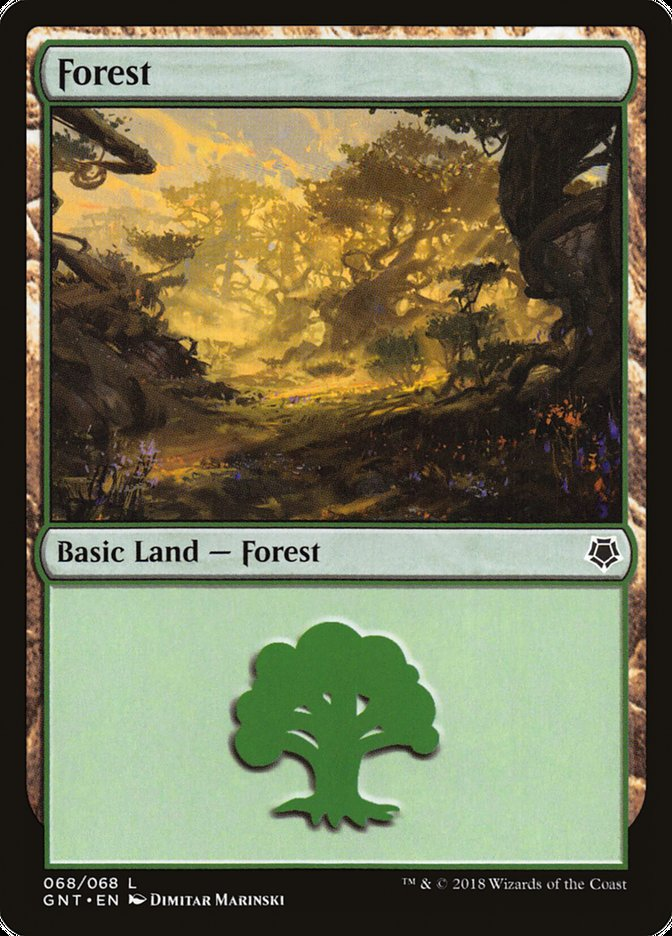 Forest (68) card from Game Night