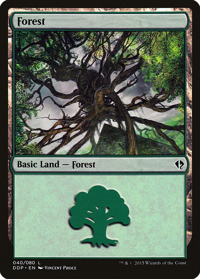 Forest (40) card from Duel Decks: Zendikar vs. Eldrazi