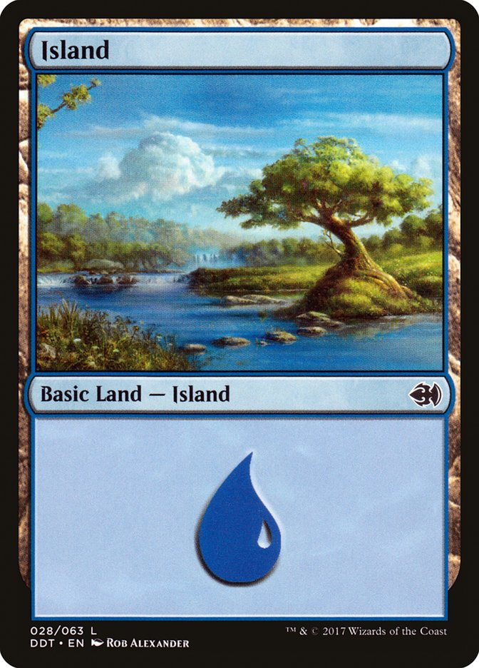 Island (28) card from Duel Decks: Merfolk vs. Goblins