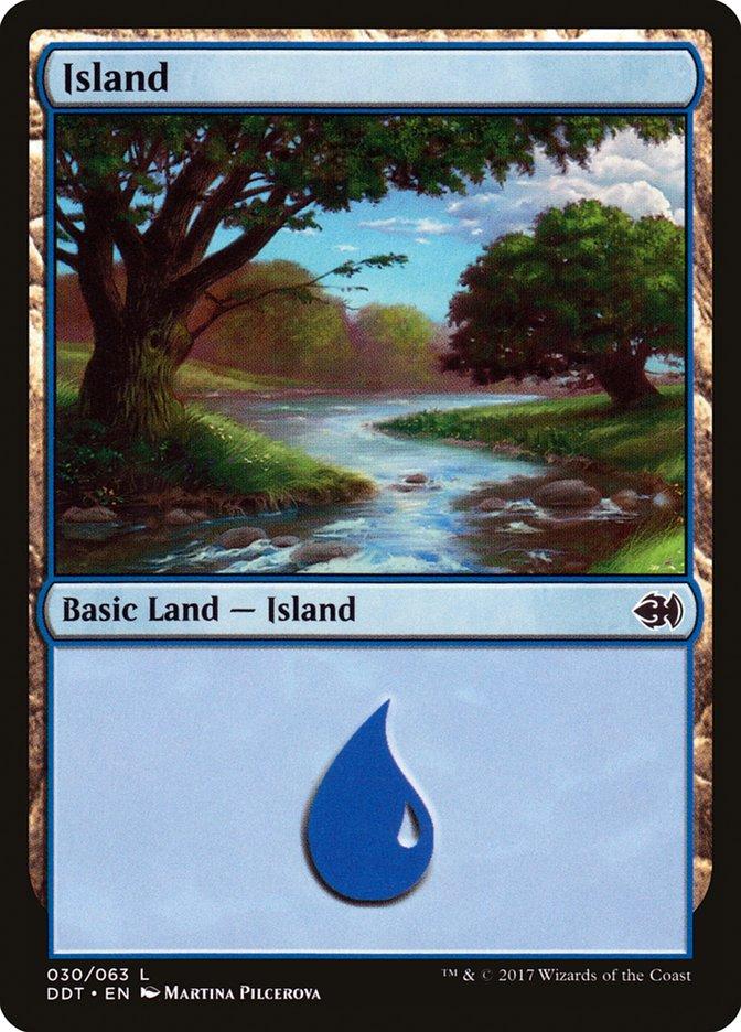Island (30) card from Duel Decks: Merfolk vs. Goblins