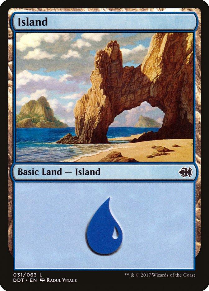 Island (31) card from Duel Decks: Merfolk vs. Goblins
