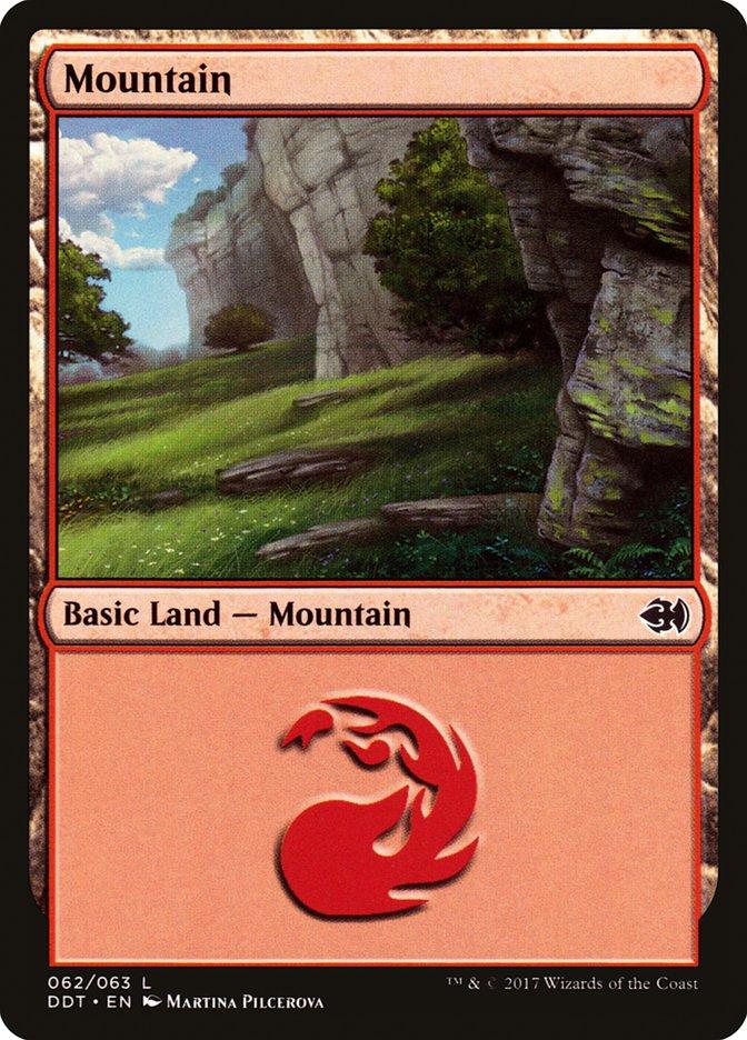 Mountain (62) card from Duel Decks: Merfolk vs. Goblins