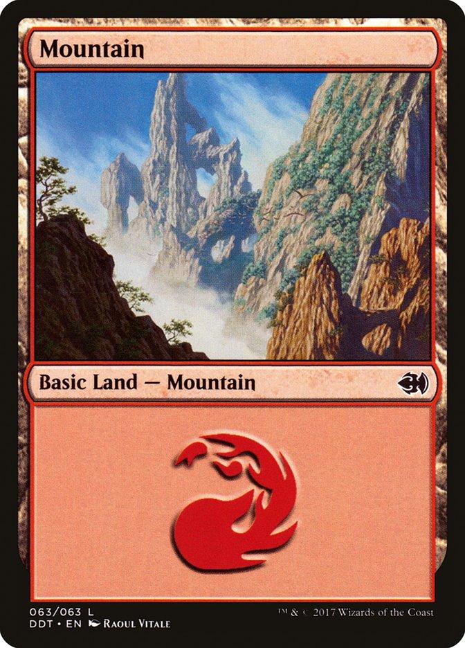 Mountain (63) card from Duel Decks: Merfolk vs. Goblins