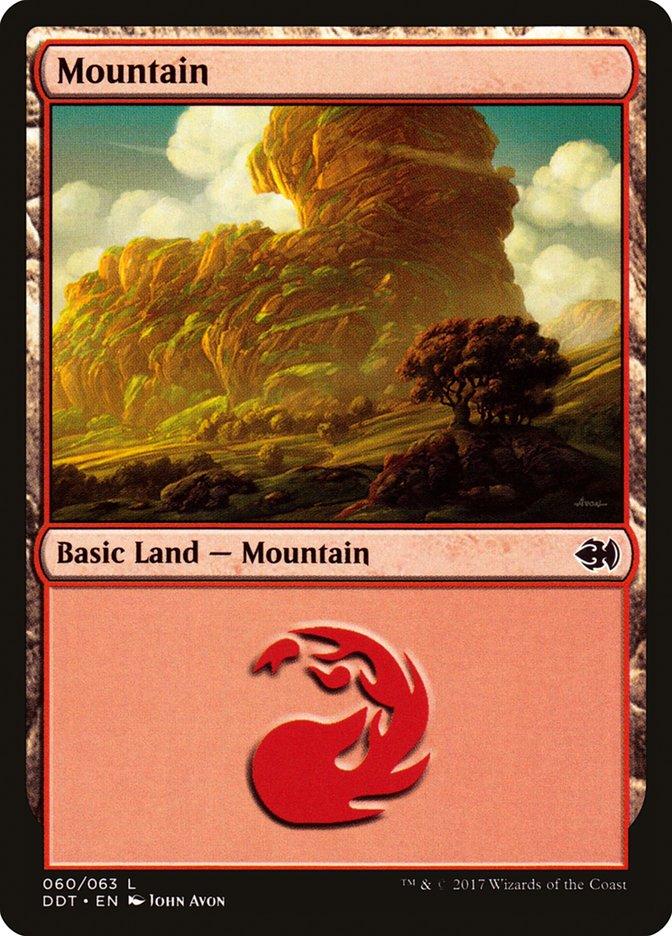 Mountain (60) card from Duel Decks: Merfolk vs. Goblins