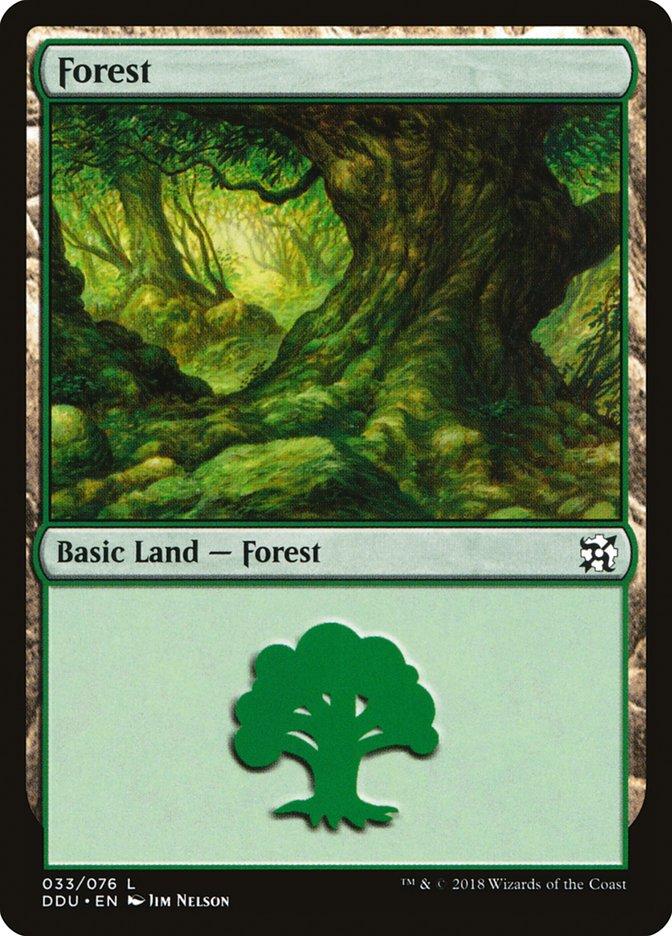 Forest (33) card from Duel Decks: Elves vs. Inventors