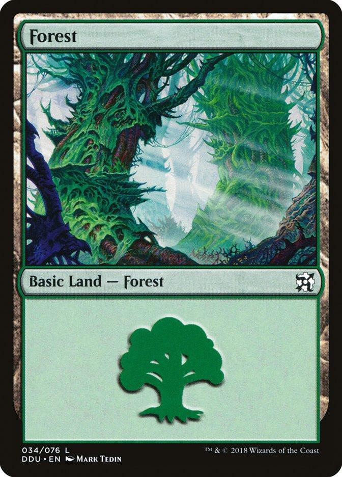 Forest (34) card from Duel Decks: Elves vs. Inventors
