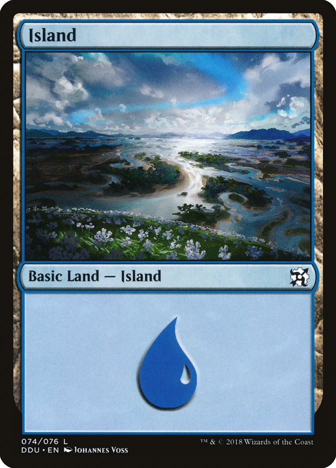 Island (74) card from Duel Decks: Elves vs. Inventors