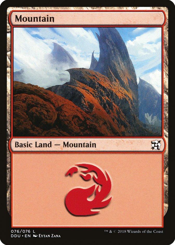 Mountain (76) card from Duel Decks: Elves vs. Inventors