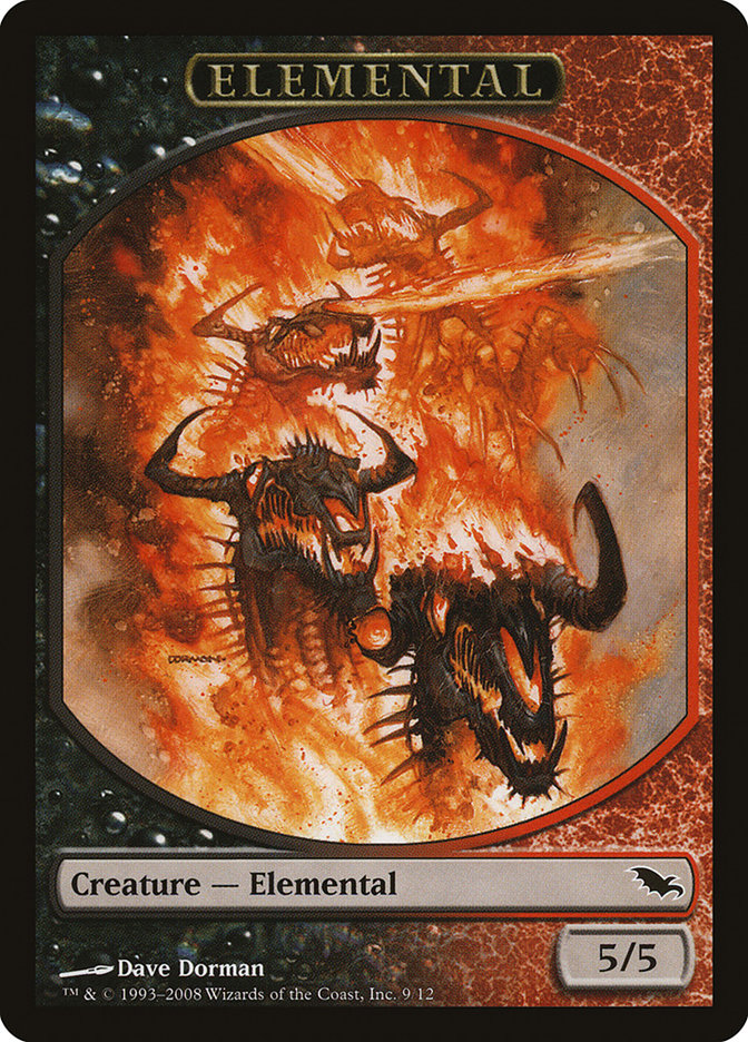 Elemental Token (Black/Red)