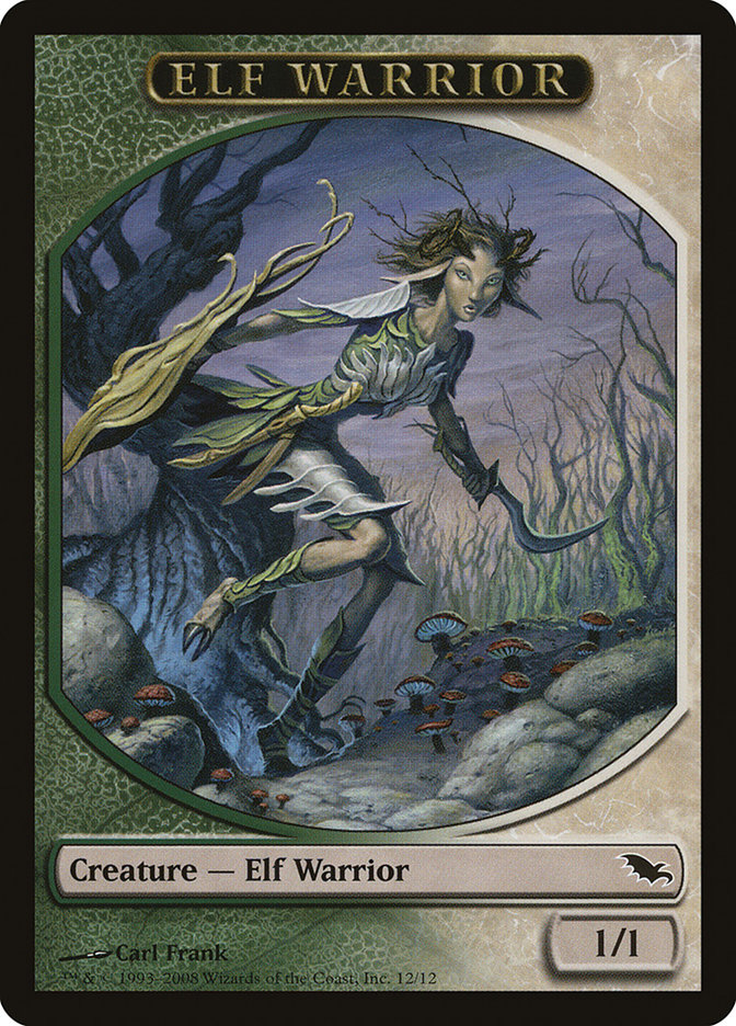 Elf Warrior Token (Green/White)