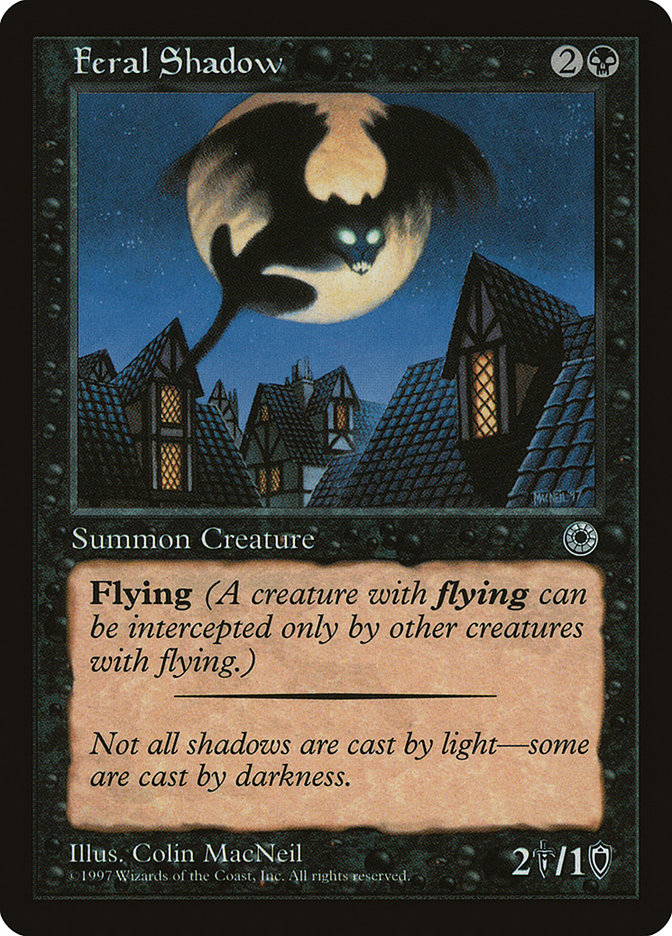 Feral Shadow (Reminder Text) card from Portal Demo Game