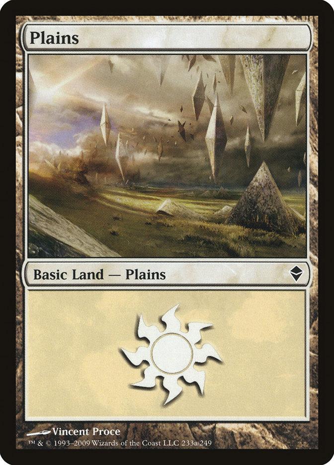 Plains (233a) card from Zendikar