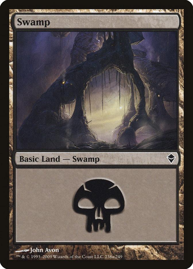 Swamp (238a) card from Zendikar