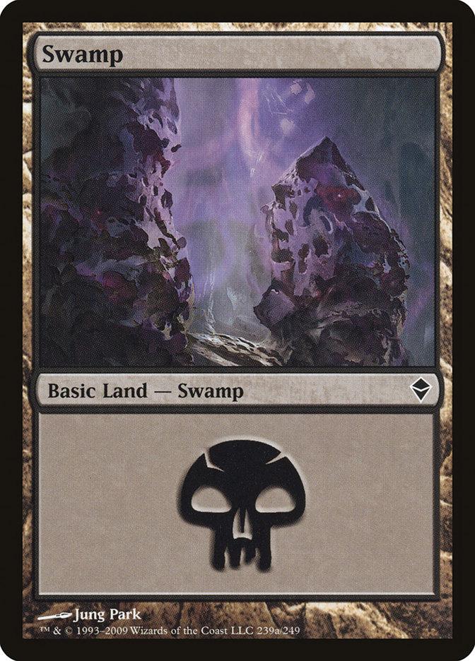 Swamp (239a) card from Zendikar