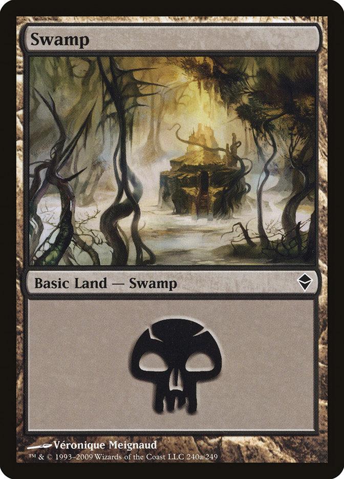 Swamp (240a) card from Zendikar