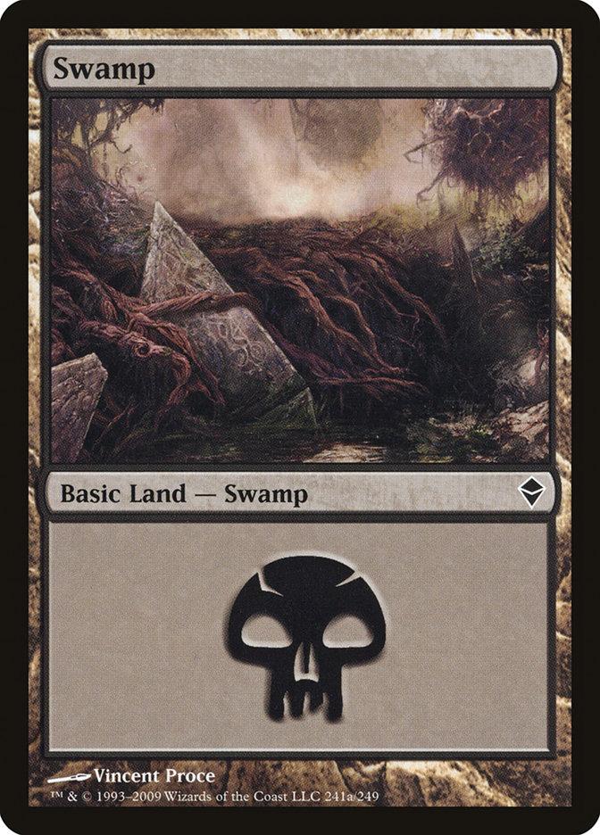 Swamp (241a) card from Zendikar