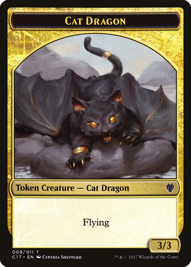 Cat Dragon (009) // Dragon (006) Double-sided Token